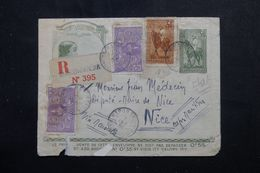 MADAGASCAR - Entier Postal + Compléments Recto / Verso En Recommandé De Maromandia Pour Nice En 1936  - L 62988 - Madagascar (1889-1960)