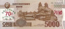 COREE DU NORD 5000 WON 2019 UNC P CS25 ( 70e Anniversaire) - Korea (Nord-)