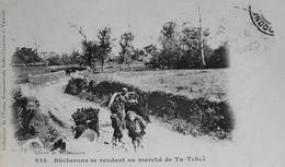 CPA. - COCHINCHINE VIETNAM INDOCHINE - N° 836 - Bûcherons Se Rendand Au Marché De Ta-Tchaï - En TBE - Viêt-Nam