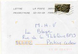 N° 259 Adhésif Y. Et T. Oblitération Toshiba TSC 1000 38909A (Migné Auxances Poitiers PIC) Flamme Muette Du 02/03/2009 - 1961-....