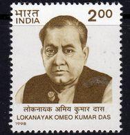 India 1998 Lokanayak Omeo Kumar Das Commemoration, MNH, SG 1790 (D) - Neufs