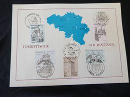 "BELG.1988 2288 2289 2290 2291 & 2292 Filatelic Card  : "" TOURISME "" - FDC"
