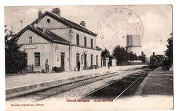 ROBERT ESPAGNE LA GARE TRAIN EN GARE ANIMEE - Revigny Sur Ornain
