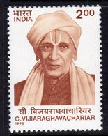 India 1998 Dr C. Vijaraghavachariar Commemoration, MNH, SG 1795 (D) - Neufs