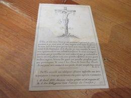 Dp 1833 - 1883, Rumillies/Linnep, Comtesse De Spee Nee Comtesse De Robiano - Images Religieuses