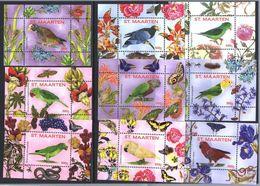 St. Maarten 2016.  Fauna.Birds. Butterflies.  MNH - Niederländische Antillen, Curaçao, Aruba