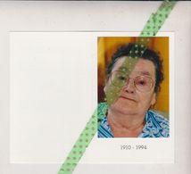Paula Malfait-Dorme, Dadizele 1910, Wervik 1994 - Décès