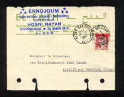 """SUR FRAGMENT ENVELOPPE """" TIMBRE MARIANNE DE  DECARIS DE 1960 SURCHARGE EN ROUGE  EA """" CACHET ALGER BELCOURT 17/09/1962 - Argelia (1962-...)"""