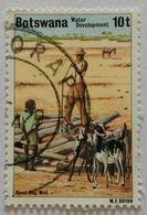 022. BOTSWANA (10t) USED STAMP WATER DEVELOPMENT- HAND-DUG WELL - Botswana (1966-...)