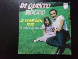 """45 T Di Quinto Rocco """" Je T'aime Bien Papa + Ti Voglio Molto Bene Papa """" - Vinyl Records"""