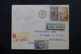 MADAGASCAR - Enveloppe En Recommandé De Maintirino En 1939 Pour La France, Affranchissement Plaisant  - L 62996 - Brieven En Documenten
