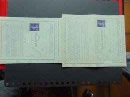 Très Belle Carte Pneumatique Avec Réponse Payée Neuve N°. K2 - Entiers Postaux