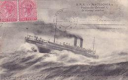 Cpa -bateau Paquebot R.M.S. Macedonia-pas Sur Delc./ Not On Delc.-peninsule Orientale-edi Grimaud - Dampfer