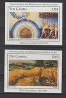 Gambie 1995 Metropolitan New-York BF 272-73 ** MNH - Arte