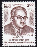 India 1998 Dr Tristao Braganza Cunha Commemoration, MNH, SG 1811 (D) - Neufs