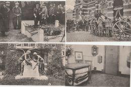 4 CPA:ENLÈVEMENT CORPS DE MISS EDITH CAVELL TIR NATIONAL,ROI REINE D'ANGLETERRE MÉMORIAL,MONUMENT CAVEL ET DEPAGE MARIE - Geschiedenis