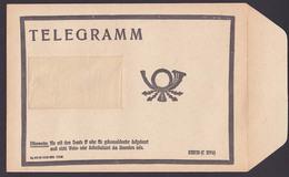 Germany East, DDR Telegramm Umschlag Ungebraucht Trauer Aus 1977 Bzw. 1986, Posthorn, Je A5-Format - Historische Documenten