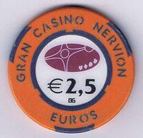 Casino Chip Fiche 2,5 € Gran Casino Nervion Spain - Casino