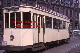 Reproduction D'unePhotographie D'un Tramway Ligne 1 Eggermont Avec Publicité Javel La Croix à Gand En Belgique En 1964 - Reproductions