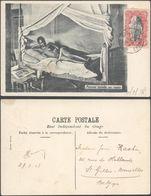 Carte Postale - Congo : Femme Baluba Au Repos / Femme Seins Nus, Voyagée (Nouvelle-Anvers) - Congo Belge - Autres