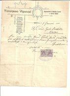 EMPOLI TOMMASO VIGNOZZI RAPPRESENTANTE DI MACCHINE AGRICOLE ETC ETC. FATTURA 9/1/1910 - Italia