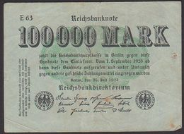 Reichsbanknote 100.000 Mark Vom 25.7. 1923 Serie E, Inflation - [ 3] 1918-1933 : República De Weimar