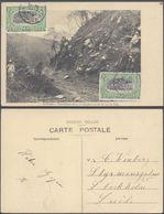 Carte Postale - Congo : Matadi Travailleurs De La Cie Du Chemin De Fer Sur La Voie / Voyagée - Congo Belge - Autres