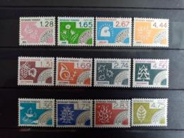 FRANCE.1986 à 1988. Préoblitérés N°190 à 201. NEUFS SANS Charnières. Côte YT 2020 : 20,50 €. - 1964-1988