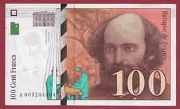 "100 Francs ""Cézanne"" 1997---SUP----ALPH.A ---Numéro.005204304 - 1992-2000 Ultima Gama"