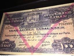 See Photos. Syria Banque De Syrie Et Du Grand-Liban 100 Livres 1939 Banknote - Etats-Unis