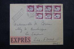 ALGÉRIE - Enveloppe En Expres De Constantine Pour La France En 1962, Affranchissement Décaris EA En Bloc De 7 - L 63012 - Algerije (1962-...)