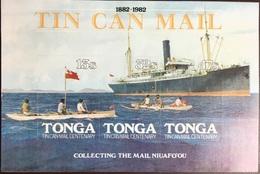 Tonga 1982 Tin Can Mail Ships Minisheet MNH - Tonga (1970-...)