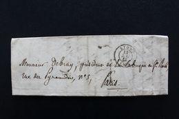1848 LAC LYON CAD TYPE 15 DU 13/05/1848 POUR PARIS  CAD ARRIVEE TYPE 15  DU 15/05/1848 TAXE MANUSCRITE 7 DECIMES. - 1801-1848: Precursores XIX