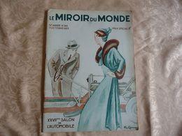 LE MIROIR DU MONDE - XXVIIeme SALON DE L'AUTOMOBILE - 7 Octobre 1933 - - 1900 - 1949