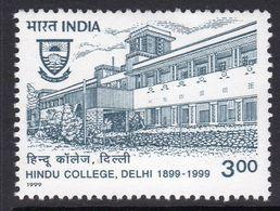 India 1999 Centenary Of Delhi Hindu College, MNH, SG 1837 (D) - Neufs
