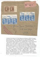 GANDON 15FR PUB  BIC BANDE DE 3X2+ N°681X2 DEVANT DE PAQUET VALENCE AA 1954 TARIF 8EME RARE - 1945-54 Marianne Of Gandon