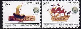 India 1999 Maritime Heritage Set Of 2, MNH, SG 1844/5 (D) - Inde
