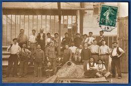 CARTE PHOTO 91 BRETIGNY SUR ORGE - Ateliers Bouget (carte Envoyée De Chamarande) - Ensemble Des Ouvriers De L'entreprise - Sonstige Gemeinden