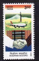 India 1999 Mizoram Accord Commemoration, MNH, SG 1850 (D) - Inde