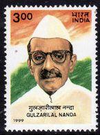 India 1999 Gulzarital Nanda Birth Centenary, MNH, SG 1851 (D) - Inde