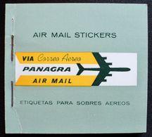 Booklet Carnet PANAGRA Pan American Airline Air Mail Flight-etiquetas Aéreos -2 Sheets 4 Stickers Each-aviation Aircraft - Postzegels