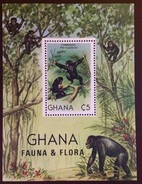 Ghana 1982 Flora & Fauna Chimpanzees Minisheet MNH - Chimpancés