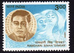 India 1999 Ramdhari Sinha, Poet, Commemoration, MNH, SG 1862 (D) - Inde