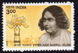 India 1999 Birth Centenary Of Kazi Nazrul Islam, MNH, SG 1865 (D) - Inde