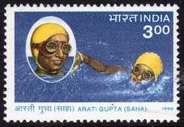 India 1999 Arati Gupta, Swimmer, Commemoration, MNH, SG 1866 (D) - Neufs