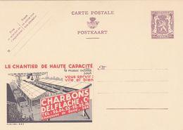 Carte Entier Postal Publibels 883 Charbons Delflache Gand Le Chantier De Haute Capacité - Entiers Postaux