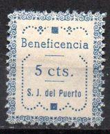 Viñeta  Beneficiencia San Juan Del Puerto - Verschlussmarken Bürgerkrieg