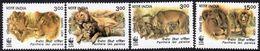 India 1999 Endangered Species, Asiatic Lion Set Of 4, MNH, SG 1867/70 (D) - Neufs
