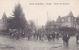 PERSAN  FORGES SORTIE DES OUVRIERS - Persan