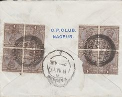 INDIA 1929 GEORGE V AIR MAIL COVER TO LONDON. - 1911-35 King George V